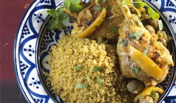 Tajine de cuisses de poulet au citron et Quinoa d'Anjou