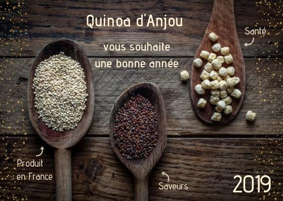 Carte voeux quinoa d'anjou